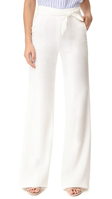 Veronica Beard Dallas Tie Waist Pants