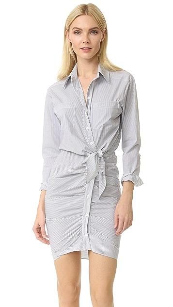 5d02e5e05fb Veronica Beard Sierra Striped Shirtdress