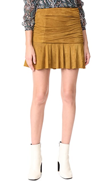 Veronica Beard Weston Ruched Skirt