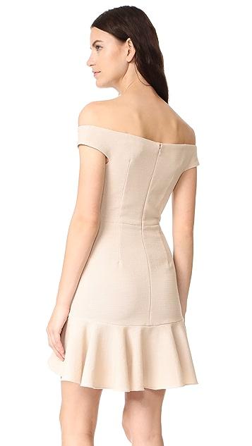 Veronica Beard Winnie Off Shoulder Flounce Dress