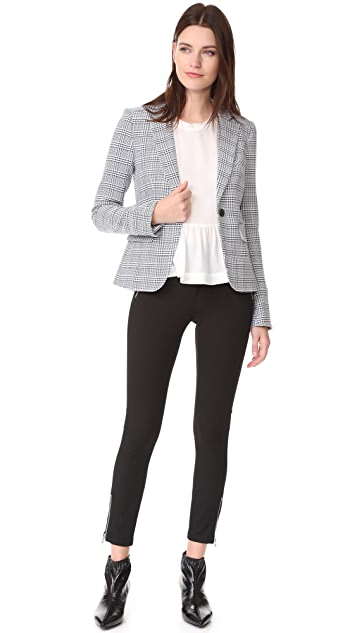 Veronica Beard Ash Seamed Skinny Pants