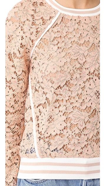 Veronica Beard Jett Lace Top