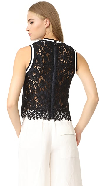 Veronica Beard Juno Sleeveless Lace Top