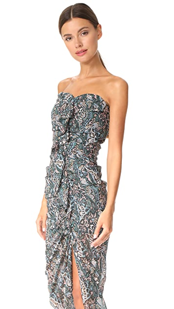 Veronica Beard Peyton Strapless Ruched Dress