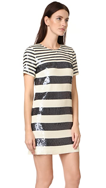 Veronica Beard Evan Sequin T-Shirt Dress