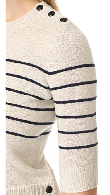 Veronica Beard Knot Mariner Combo Sweater
