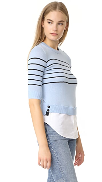 Veronica Beard Knot Mariner Combo Sweater
