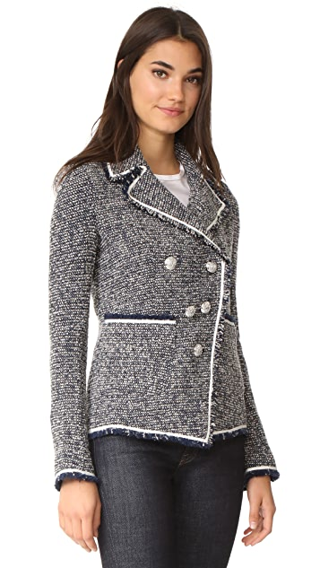 Veronica Beard Carroll Portrait Neckline Jacket