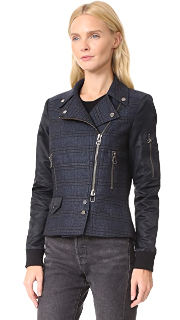 Veronica Beard Everly Combo Moto Jacket