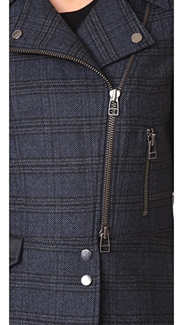 Veronica Beard Everly Combo Moto Jacket