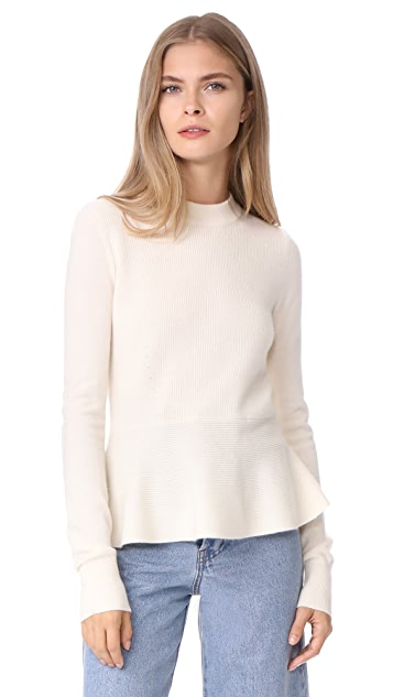 Veronica Beard Raleigh Peplum Crewneck