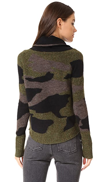 Veronica Beard Davis Camo Sweater