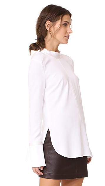 Veronica Beard Costello Mock Neck Tunic