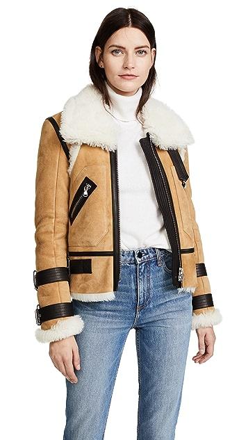 Veronica Beard Windsor Pilot Shearling Jacket