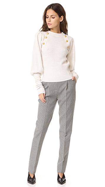 Veronica Beard Jude Leg of Mutton Button Sweater