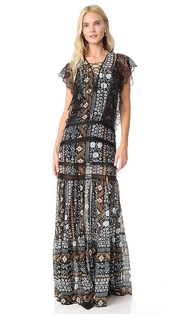 Veronica Beard Elly Lace Maxi Dress