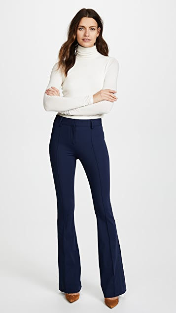 Veronica Beard Hibiscus Flare Pants