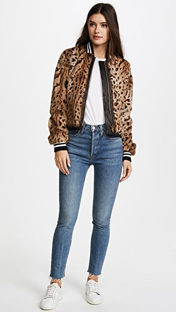 Veronica Beard Etta Fur Jacket