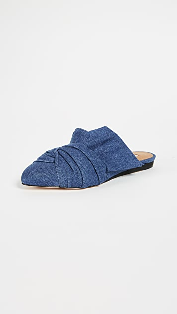 Veronica Beard Grey Wrap Mules