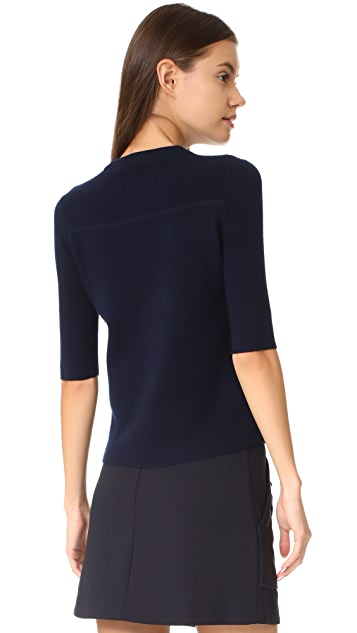 Veronica Beard Cyprus Short Sleeve Sweater