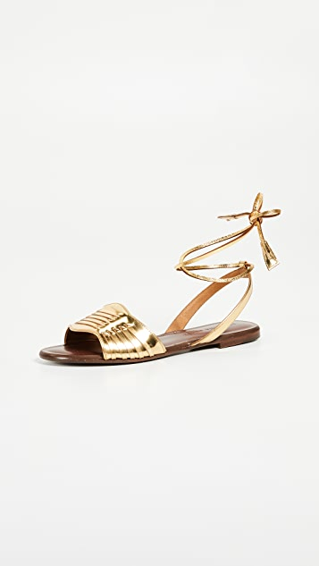 Veronica Beard Fawn Tie Sandals