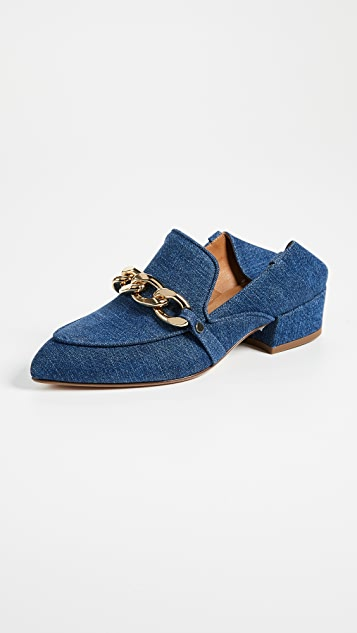 Veronica Beard Jaxon Mule Loafers - Chambray