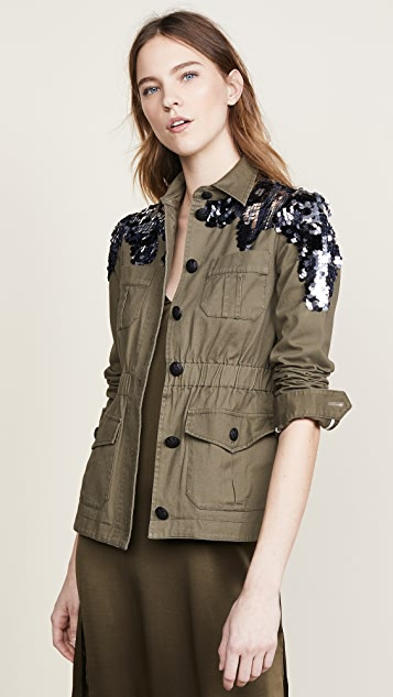 Veronica Beard Sequin Camp Jacket