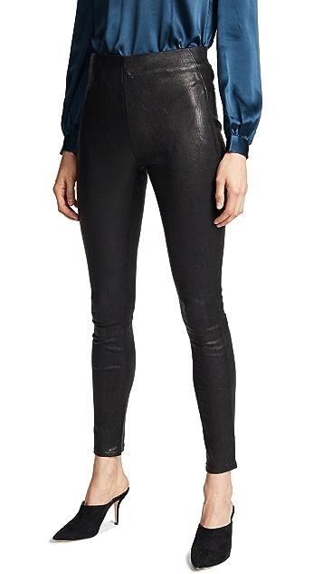 Veronica Beard Indy Leather Leggings