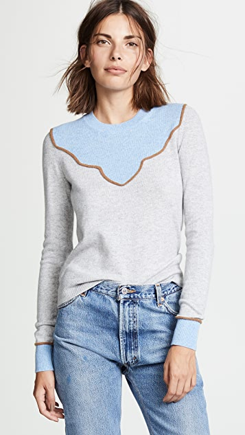 Veronica Beard Atty Cashmere Sweater