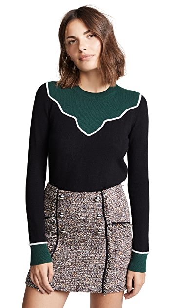 Veronica Beard Atty Cashmere Sweater