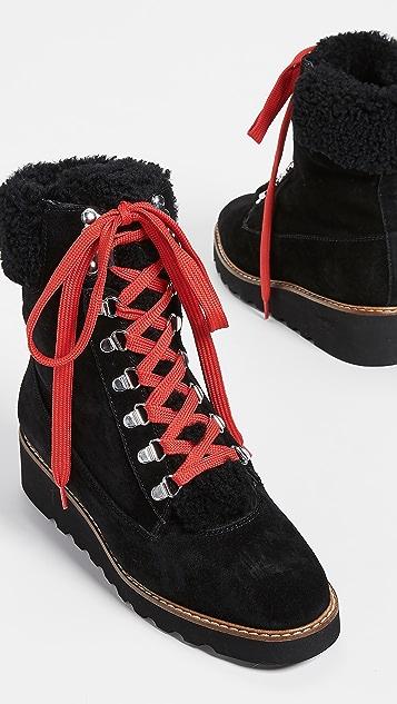 Veronica Beard Походные ботинки Vale из короткой шерсти