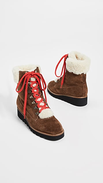 Veronica Beard Vale Hiker Shearling Boots