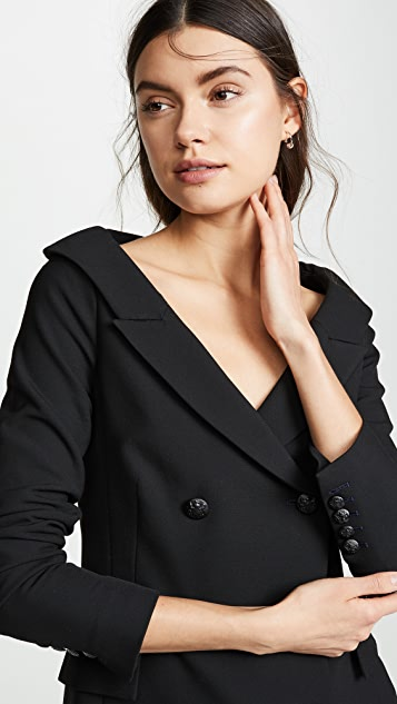 Veronica Beard Frayne Off the Shoulder Blazer