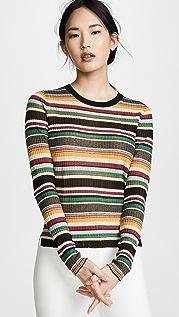 Veronica Beard Canal Long Sleeve Sweater