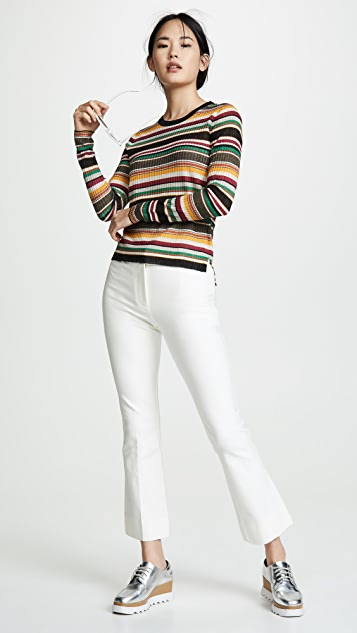 Veronica Beard Canal Long Sleeve Sweater