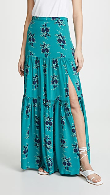 Veronica Beard Serence Skirt - Turquoise Multi