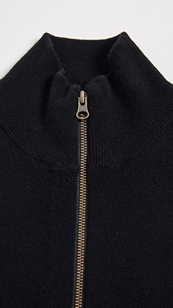 Veronica Beard Crystal Cashmere Turtleneck Dickey