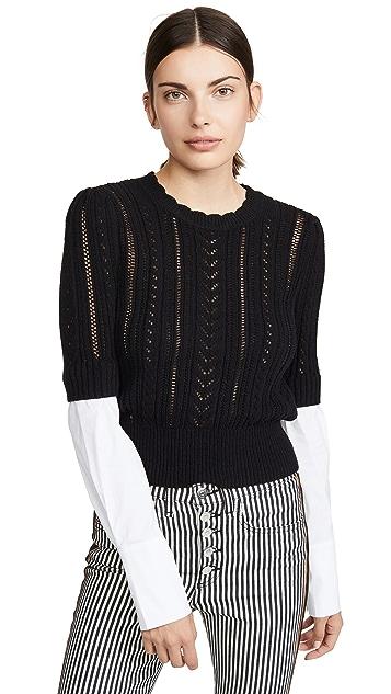 Veronica Beard Комбинированный свитер Spence