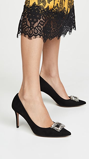 Veronica Beard Aurora Crystal Frame Pumps