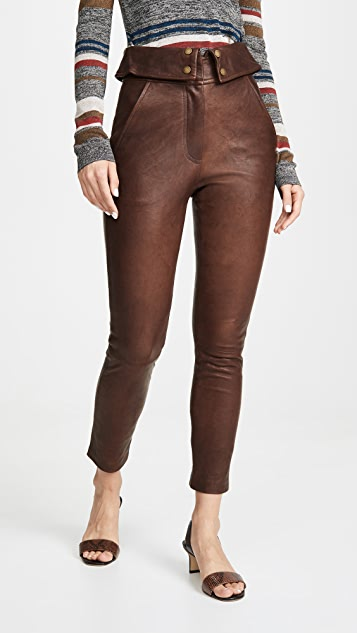 Veronica Beard Minerva Leather Pants