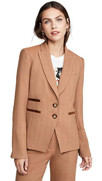 Veronica Beard Hudson 假两件外套