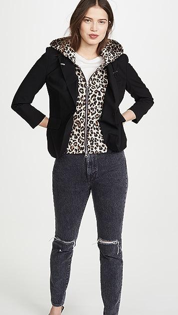 Veronica Beard Манишка с леопардовым принтом Hallie