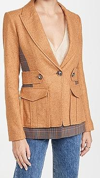 Veronica Beard Aitana 假两件式夹克