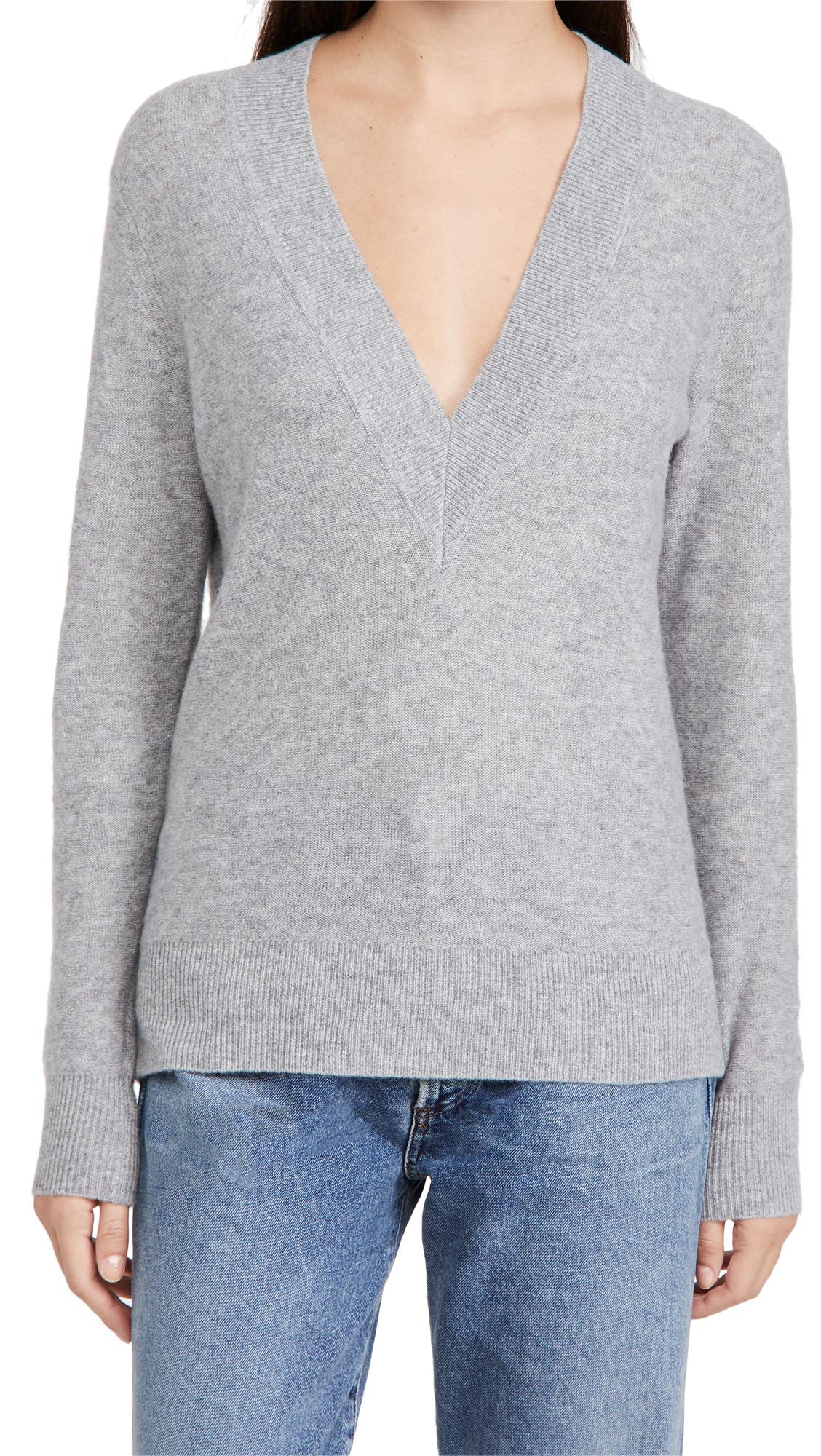 Veronica Beard Coleta V Neck Cashmere Sweater