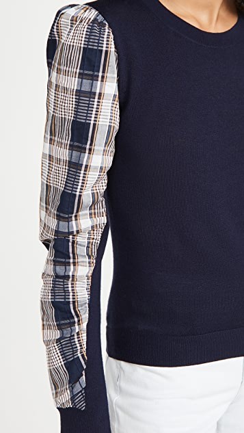 Veronica Beard Adler 混合材质毛衣