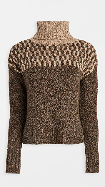 Veronica Beard Bia Turtleneck Sweater
