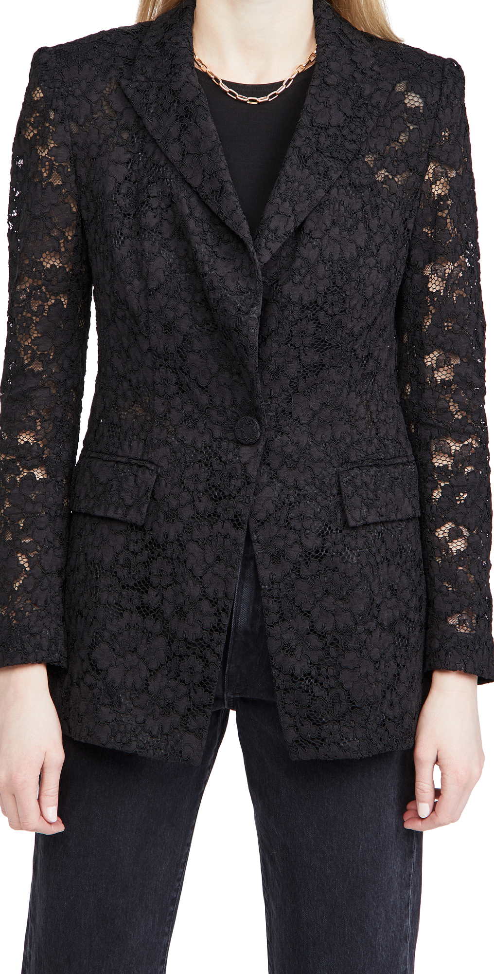 Veronica Beard Long And Lean Lace Jacket