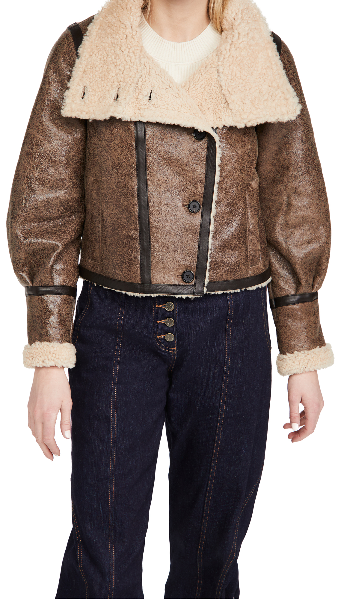Veronica Beard Selita Shearling Jacket