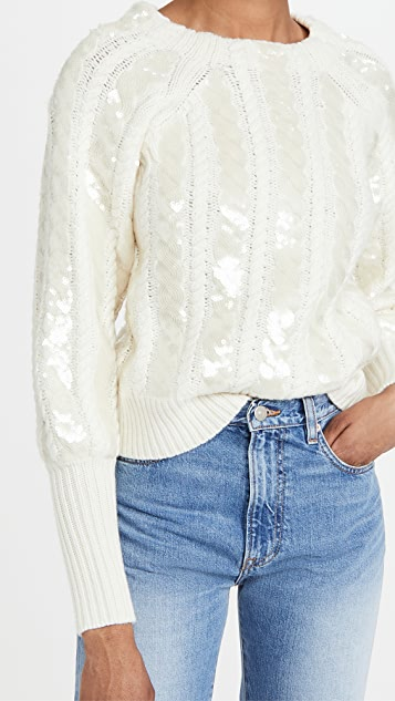 Veronica Beard Yola Pullover with Sequins
