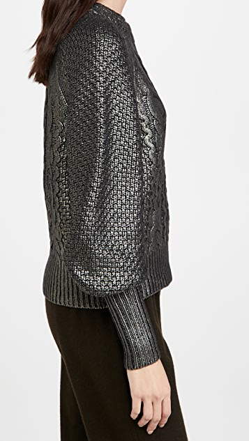 Veronica Beard Yola Pullover with Foil